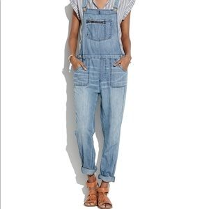 Madewell lightweight denim overalls